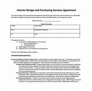Maintenance Service Contract Sample 11 Interior Design Contract Templates To Download For Free