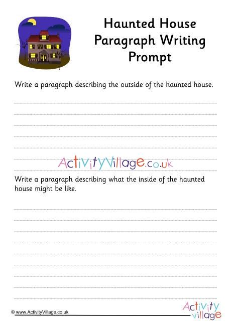 haunted house paragraph writing prompt