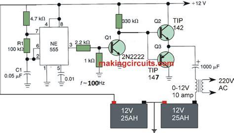 Simple Full Bridge Inverter Circuit Using