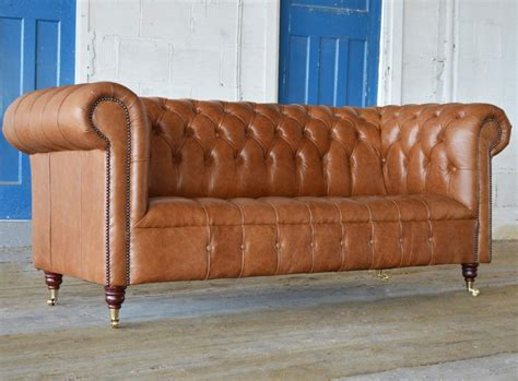 Leather Chesterfield Sofas by Edward Leather Chesterfield Sofa Abode Sofas