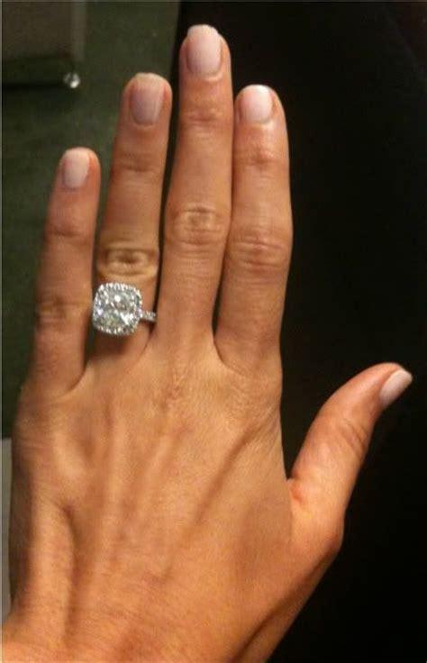 my dream wedding ring my engagement ring custom made cushion cut halo 4 5