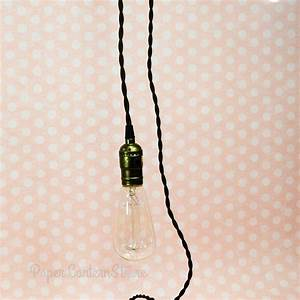Single copper socket pendant light lamp cord kit w dimmer