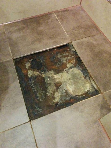 flooring   How to repair leak mould under bathroom floor