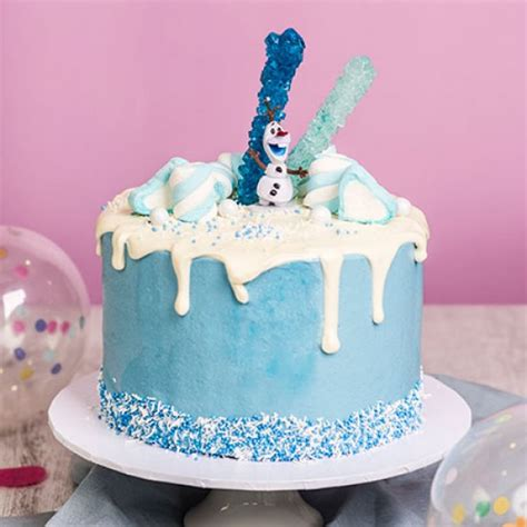 Baby Shower Cakes Girls by Frozen Drip Cake