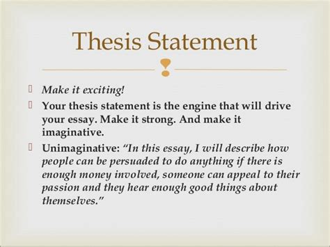 It serves as a basis for the whole work. The art of the essay