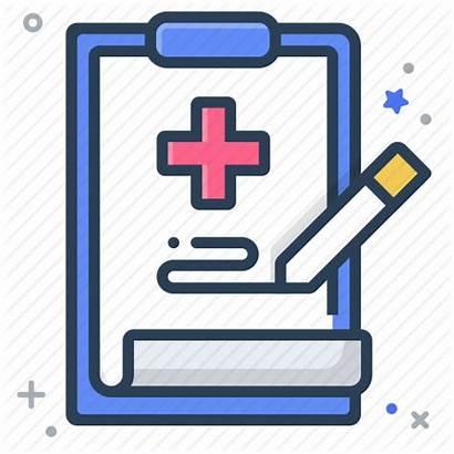 Record Medical Icon Hospital Prescription Note Health