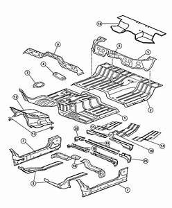 2007 Dodge Ram 2500 Crossmember  Front Seat Retention  Floor  Pan  Pans  Mopar  Body