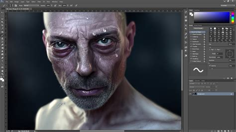 hyper real digital speed painting time lapse in