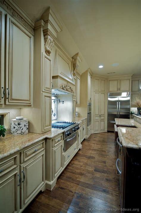 My Favorite, Anitque White Distressed Cabinets, Hood, Dark