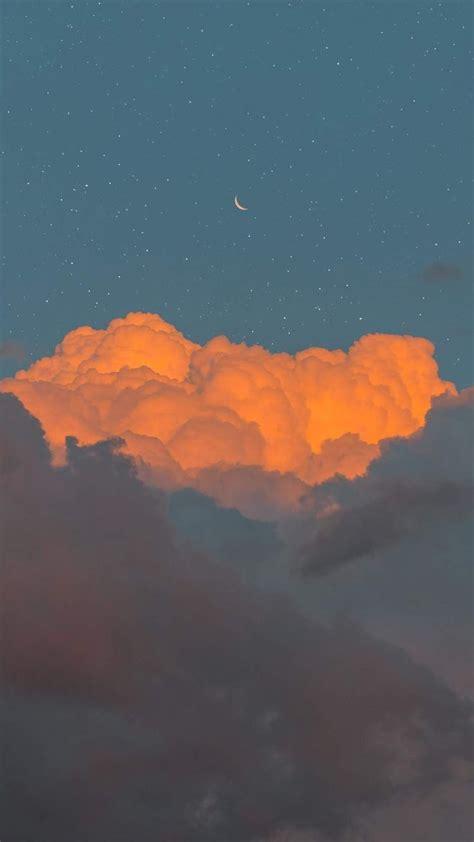 gambar awan animasi aesthetic