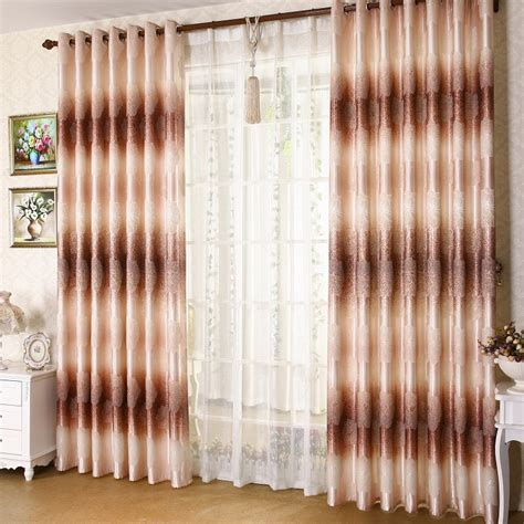 exquisite graduated color floral curtain for bedroom