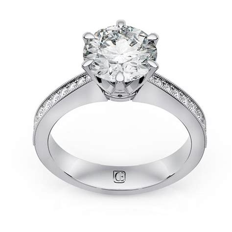 18 karat white gold engagement ring diamond emporium