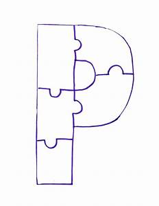 letter p is for painted puzzle craft and song clipart With letter puzzles for preschool