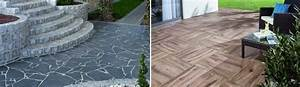 steinplatten terrassenboden materialien im uberblick With garten planen mit terrassenplatten verlegen auf balkon