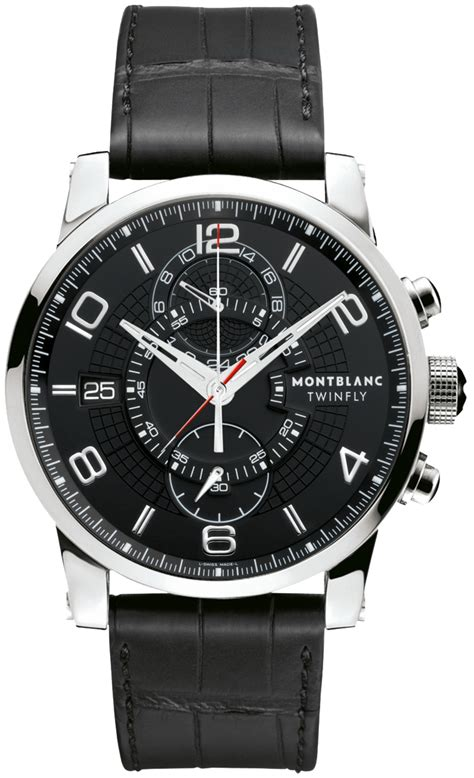 105077 MontBlanc Timewalker Twinfly Chronograph Mens Watches.
