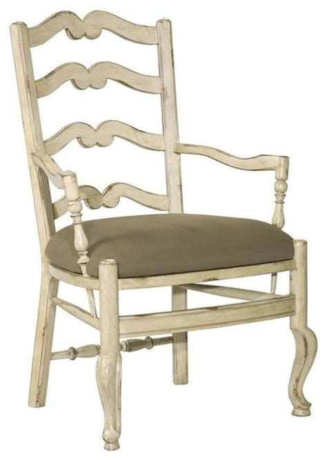 dining chair provincial white wood ladder