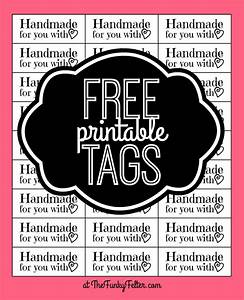 the funky felter free printable quothandmade for you with With craft labels and tags