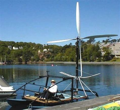 Boat Wind Turbine by Wind Powered Ships Marine Renewable Energy Research Rotary