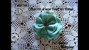 Création Avec Tissus : tutoriel cr ation d 39 une fleur en tissu youtube ~ Nature-et-papiers.com Idées de Décoration