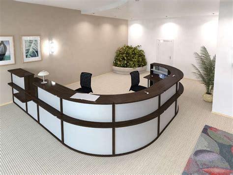 banque de bureau banque d 39 accueil elegance orange
