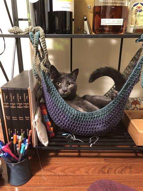 Crochet Cat Hammock by Best 12 I Crocheted A Cat Hammock Https Ift Tt 2l0v3rr