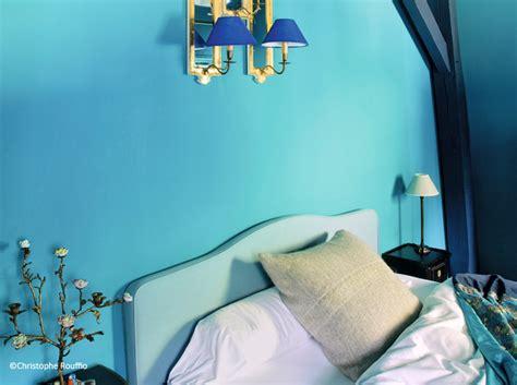peinture bleu pour chambre couleur chambre décoration