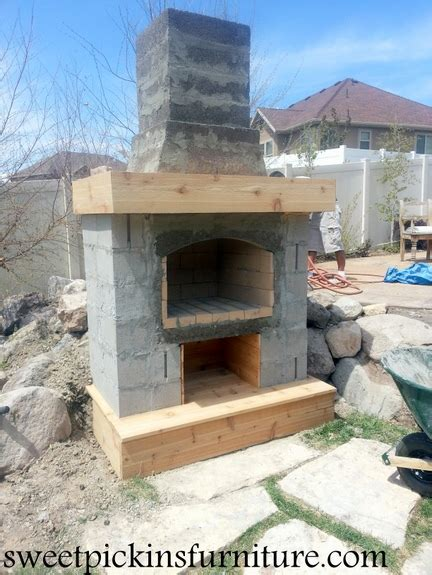 building an outdoor fireplace backyard fireplace part 2 sweet pickins furniture