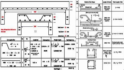 Bending Slab Bar Schedule Engineering Civil Rcc