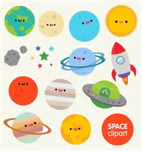 Cute Cartoon Planets Clip Art