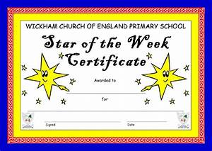 8 best images of star of the week certificate star of With star of the week certificate template