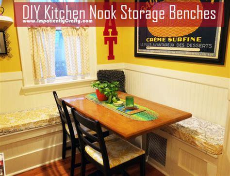 diy kitchen bench with storage diy custom kitchen nook storage benches 8753