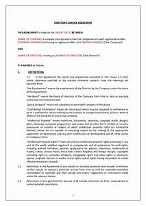 directors service contract tcw With director employment contract template
