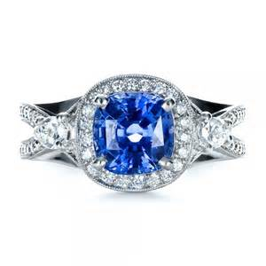 sapphire wedding rings custom blue sapphire engagement ring 1432 bellevue seattle joseph jewelry