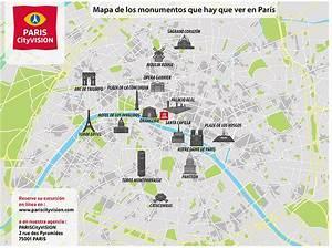Mapa de monumentos de París: plano descargable PARISCityVISION PARISCityVISION