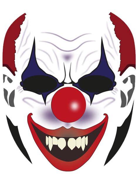 clown mask template mask craft craftshady craftshady