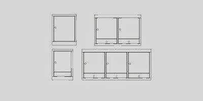 cuisine autocad blocs de 12 types de meubles pour la cuisine fichier autocad