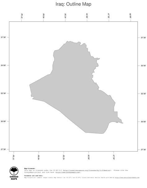 Map Iraq Ginkgomaps Continent Asia Region Iraq