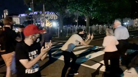 video protesters harass attack attendees  trump speech
