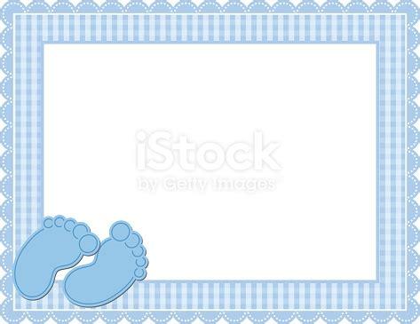 baby boy gingham frame stock vector art  images