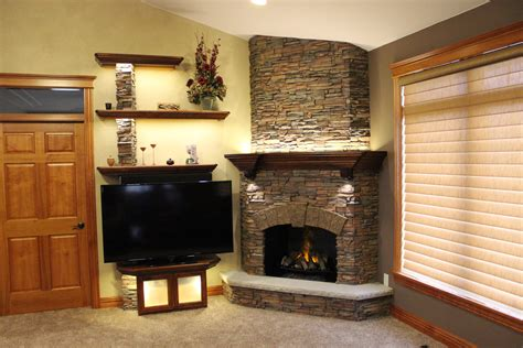 Stunning Stacked Stone Fireplace Build Creative Faux Panels