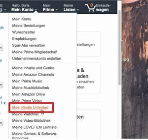 Amazon Mein Konto Rechnung : anleitung kindle unlimited abo beenden der tutonaut ~ Themetempest.com Abrechnung