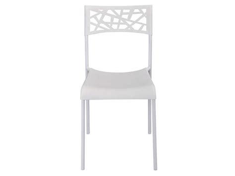 chaise martine coloris blanc vente de chaise conforama