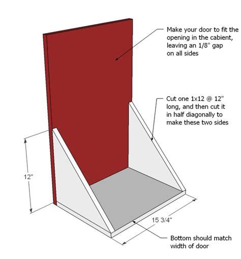Bin Pull Cabinet Hardware by Tilt Out Trash Cabinet Woodworking Plans Woodshop Plans
