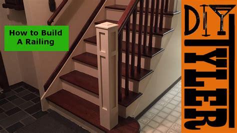 build  staircase railing diytyler