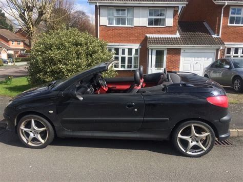 Peugeot 206 Convertible peugeot 206 convertible black and leather interior