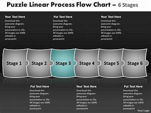 Puzzle Linear Process Flow Chart 6 Stages Make Charts