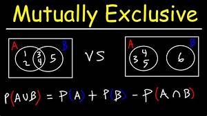 Probability Of Mutually Exclusive Events With Venn