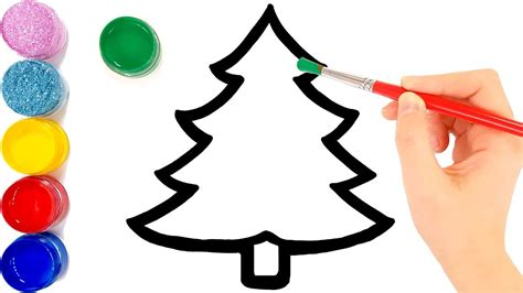 glitter christmas tree ornaments coloring  drawing