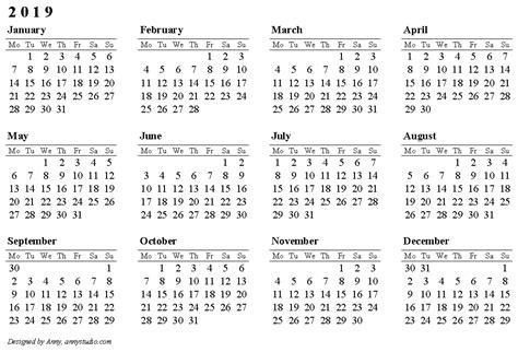 2019 calendar template word 2019 calendar printable 2018 calendar printable