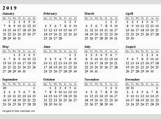 Blank Monthly Calendar 2019 yearly printable calendar